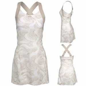 BNWOT Reebok Playdry Workout Tennis Dress White